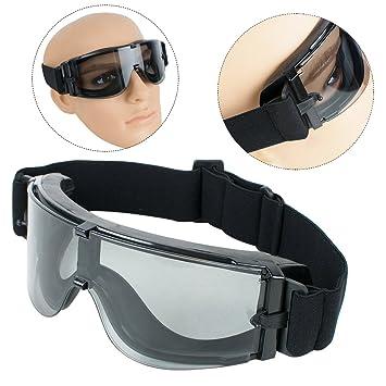 Funwill Sécurité Airsoft Lunettes, lunettes de sécurité tactique militaire  Airsoft Paintball 3 objectif avec sac c106fd5a1e31