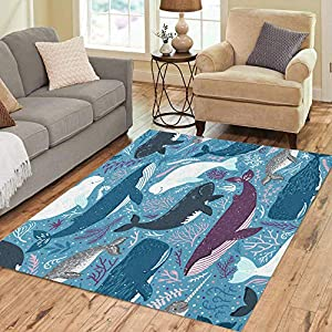 61OtCXLubHL._SS300_ Whale Area Rugs & Whale Runners
