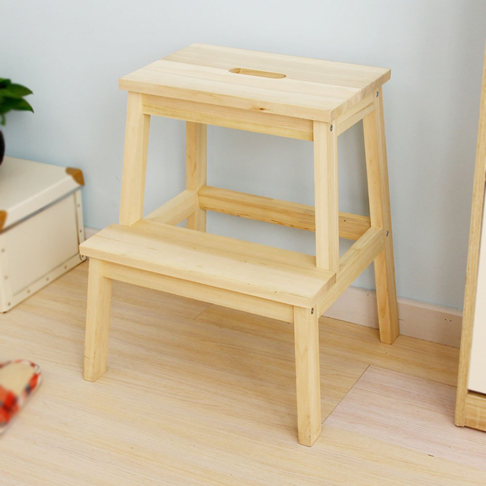 Solid wood color multi-purpose staircase / for shoe stool / small stool / staircase stool