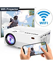 WIFI Projector, POYANK Wireless Projector 1080P Full HD Supported, 3600 Lumen Video Projector Supports Airplay Miracast DLNA Function, Compatible with TV Stick, PC, Smartphone, Game Console, White.