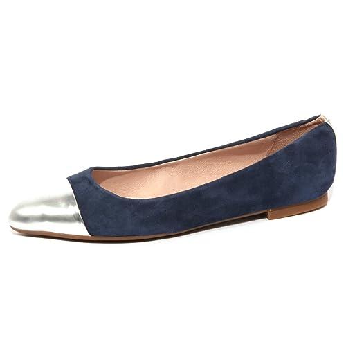 Woman Abran Ballerina Bluargento Unisa Donna B1204 Scarpa Shoe P0HUpS