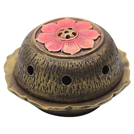 Quemador de Incienso de la Flor de Loto, Estufa de cerámica de la aromaterapia,