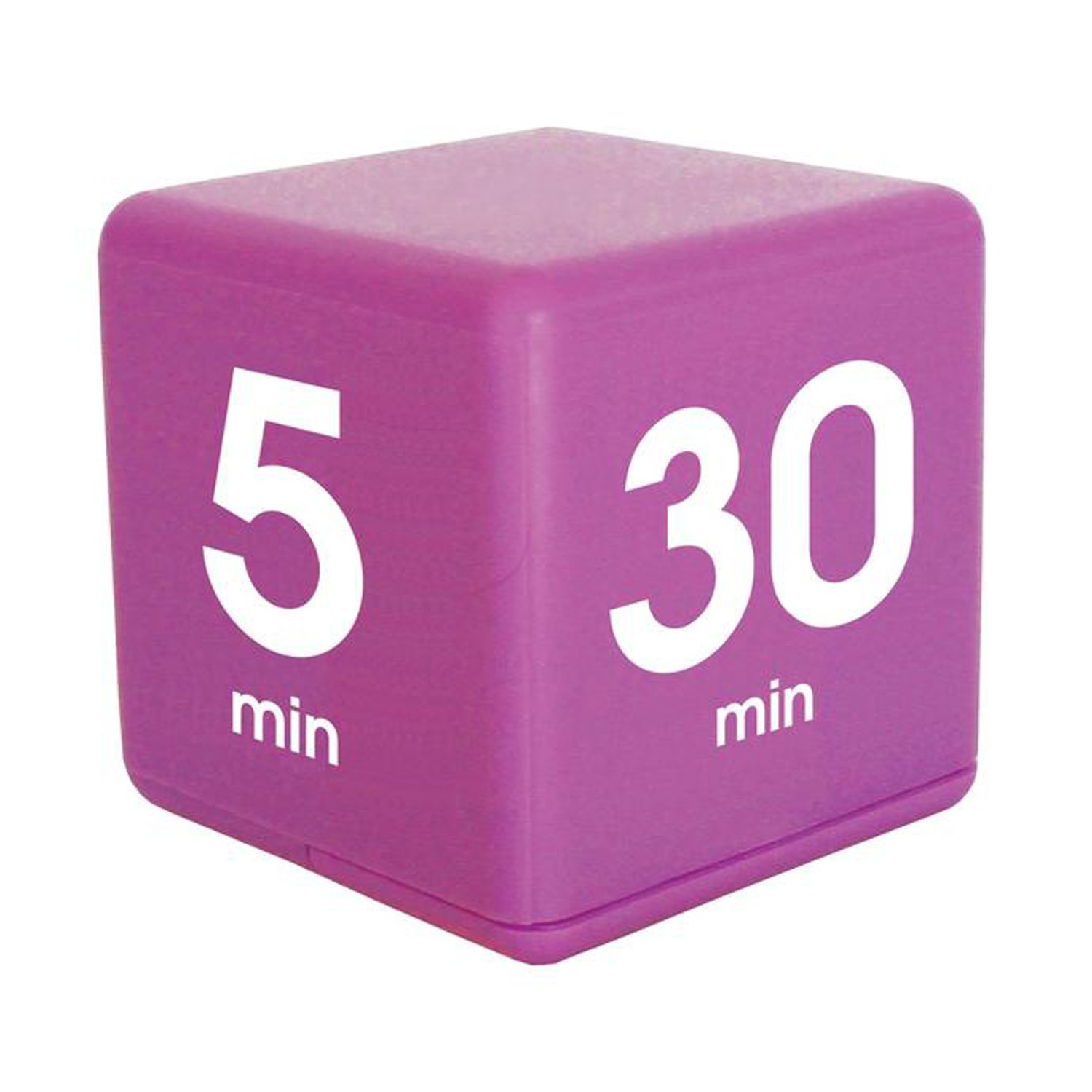 The Miracle TimeCube Timer, 5, 10, 20 and 30 Minutes, for Time Management, Kitchen Timer, Kids Timer, Workout Timer, Purple by Datexx (Image #2)