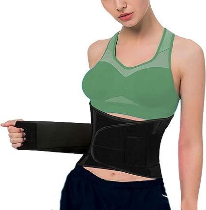 Amazon Com Soporte Lumbar Para Espalda Para Alivio Del Dolor De Espalda Baja Y Dolor Lumbar Entrenador De Cintura De Compresion Doble Con 2 Cinturon Ajustable Soporte Lumbar Para Hombres Y Mujeres