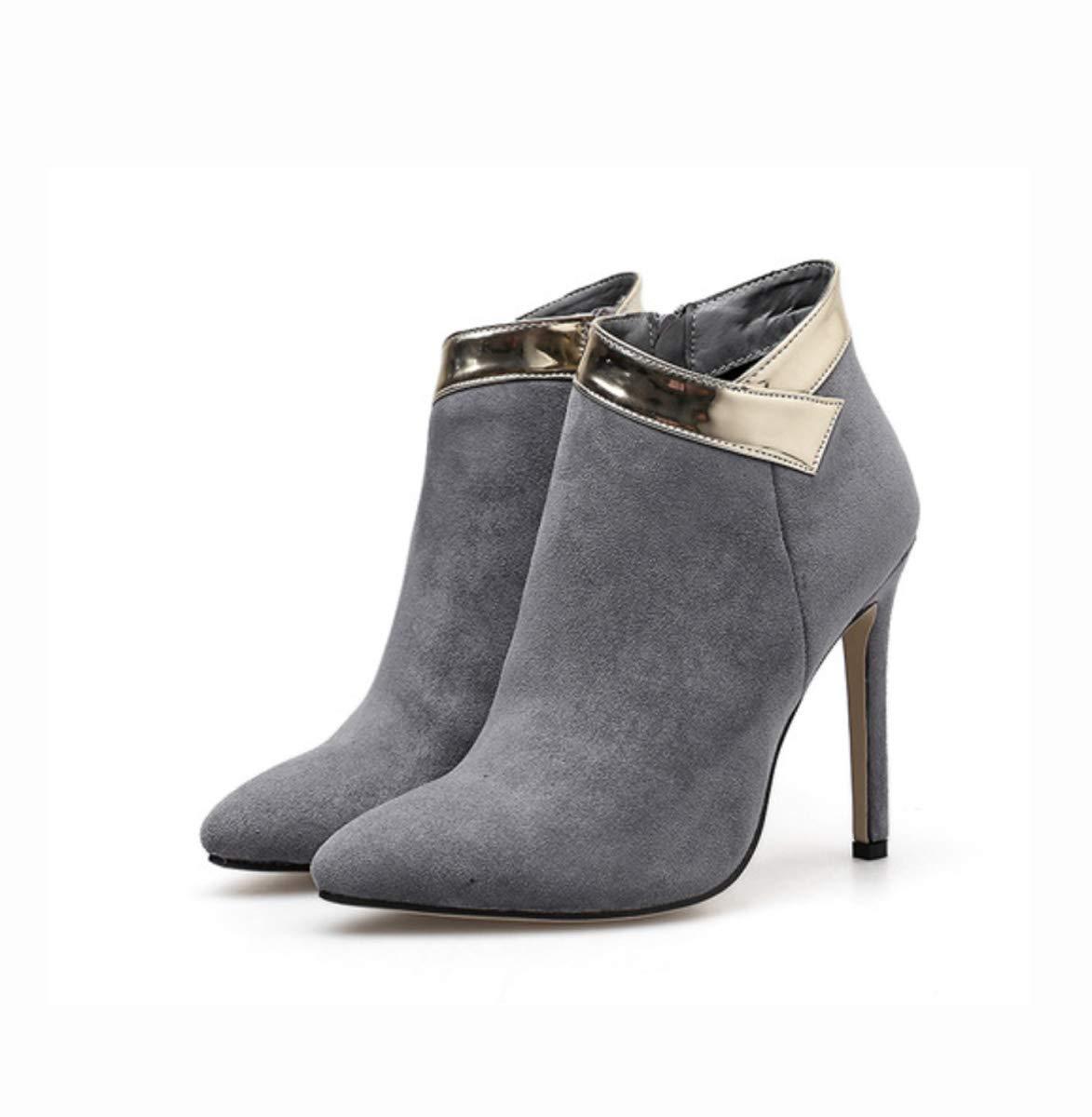 DANDANJIE Damenschuhe Fashion Stiefeletten Stiletto Heel Spitz Zipper für 2018 Herbst