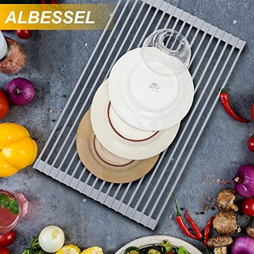 Albessel Roll-Up Dish Drainer Rack, Ware Drying Rack