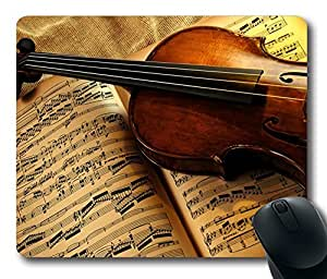 Classical Music Violin and Book Limited Design Oblong Mouse Pad by Cases & Mousepads