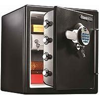 SentrySafe 1.23 cu. ft. Fire & Water Safe Extra Large Biometric Fingerprint Safe w/ Dual Key Lock