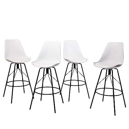 Amazoncom Changjie Furniture 30 Inch Modern Metal Bar Stools For