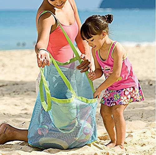 Bag All 26 1 Away Storage Sand x PCS Kids Size 45 Blue Bag 45CM Carry Mesh Green Nikgic x Beach Toy B7a8agW
