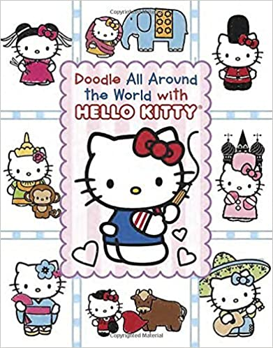Book Doodle All Around the World with Hello Kitty by Leigh Olsen (2015-03-17)