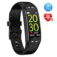 Fitness Tracker, Activity Tracker with Heart Rate Monitor, IP68 Waterproof Smart...