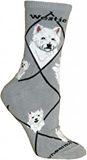 product image for Westie Dog Gray Large Cotton Socks