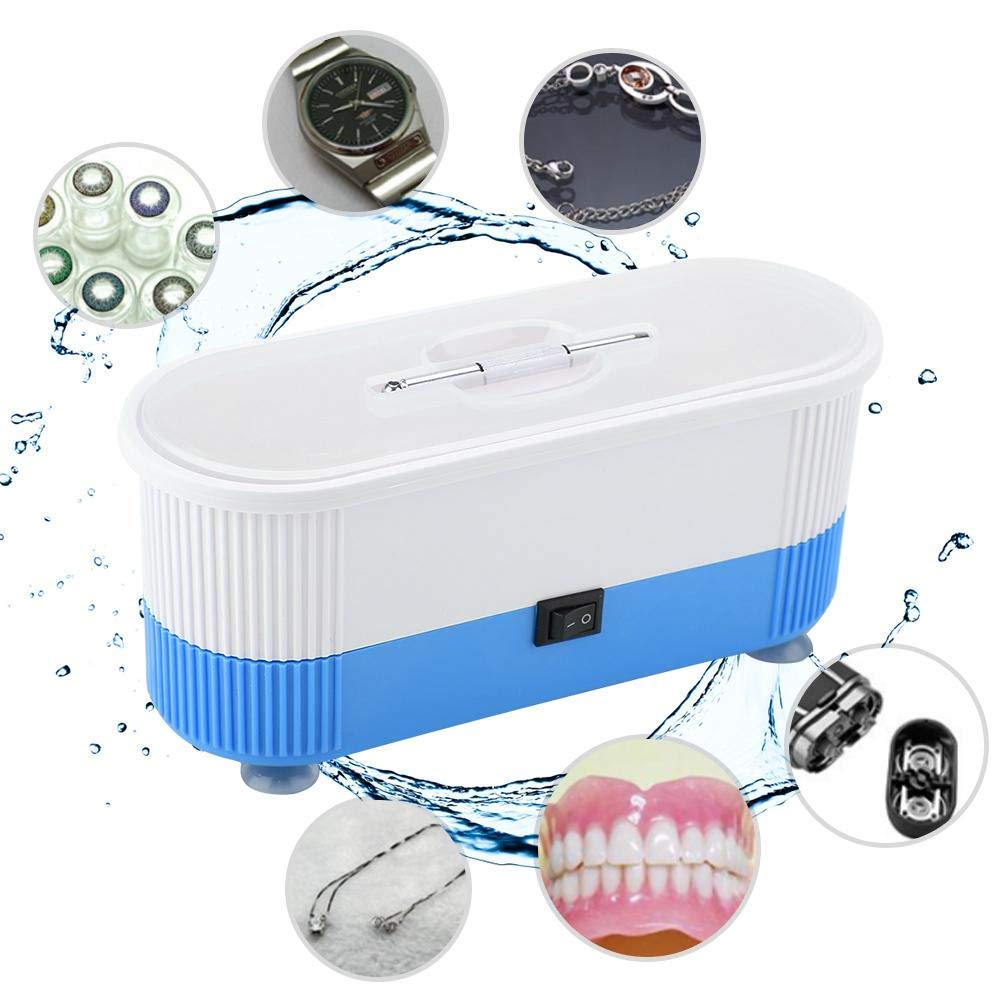 Eyeglass Cleaner, Portable Household Professional High-frequency Vibration Small Size Machine for Jewelry, Eyeglasses, Rings, Coins, Denture, Utensils, Chain: Beauty