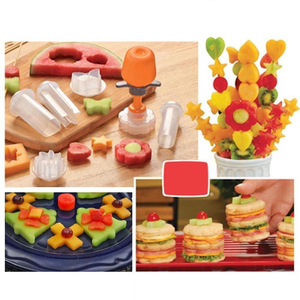Dealglad® New Creative Plastic Cake Cookie Vegetable Fruit Shape Cutter Slicer Veggie Mold Set DIY Decorating Tools DealgladUK
