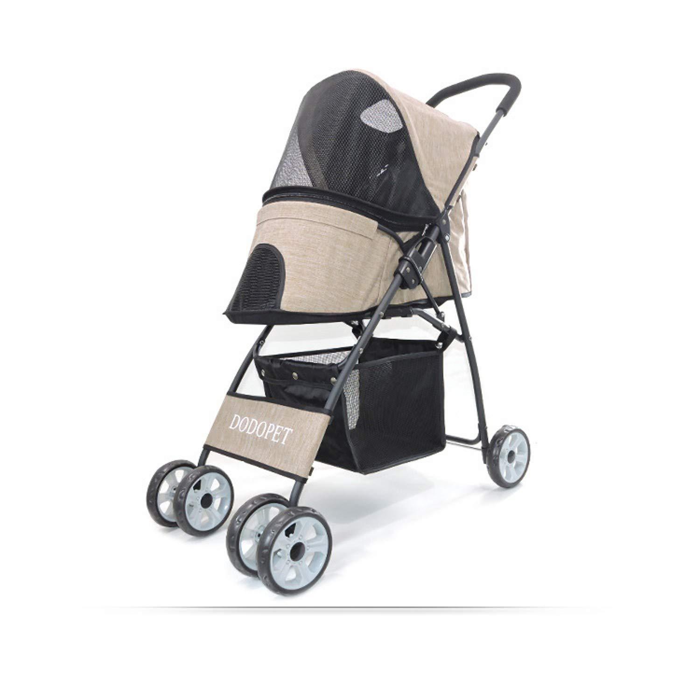 B XJLG+ dog scooter Pet stroller fourwheeled pet stroller folding trolley (color   C)