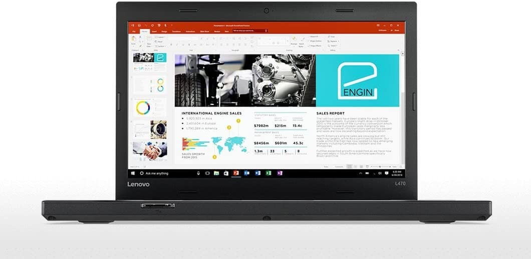"Lenovo ThinkPad L470 Windows 10 Pro - i5-6300U, 256GB SSD, 8GB RAM, 14"" IPS FHD (1920x1080) Matte Display, Intel HD Graphics 520"