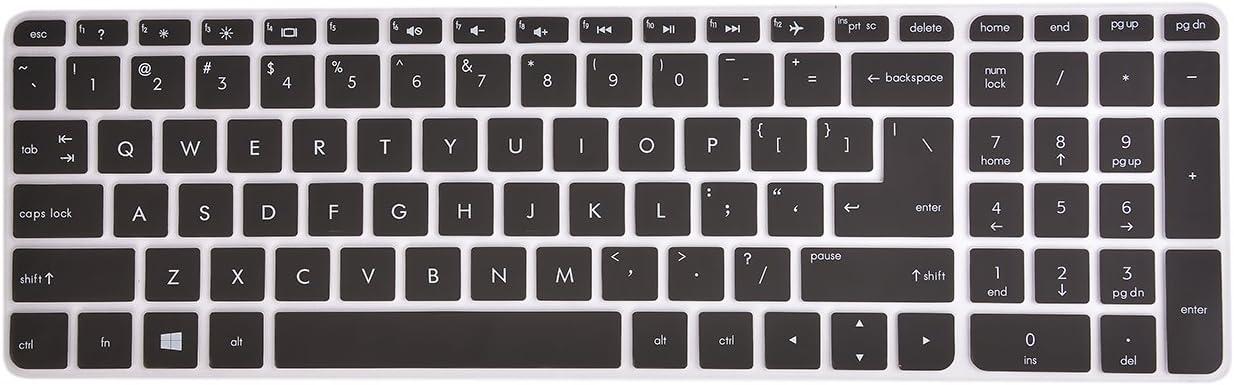 Gradual Pink Ultra Thin Laptop Keyboard Cover Skin Protector for HP Pavilion 15 15-ab 15-ac 15t-ae 15-af 15-ak 15-an 15-au 15-ay 15-as 15-ba 15-bc 15-bk,HP OMEN 15-ax 15.6 Inch Semi Leze