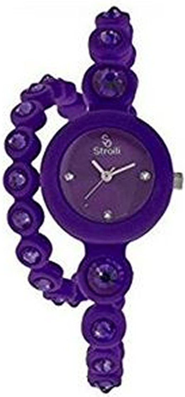 Reloj Stroili doble giro Twist silicona morado con Swarovski b0583–3