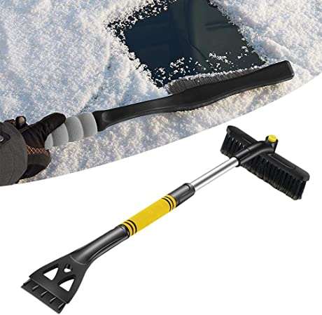 3 Pieces Car Ice Scrapers Snow Scraper Frost Snow Removal Tool for Car Window and Windshield Scratch-free with Foam Handle Suitable for Car Small Trucks and Other Cars Use in Most Winter Conditions