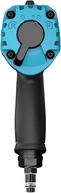 9012MTT Extra courte et l/ég/ère : 110 mm /à 1,3 kg Technologie Dual Turbo : 1600 Nm 1//2 Hazet Mini Visseuse /à percussion carr/ée 12,5 mm