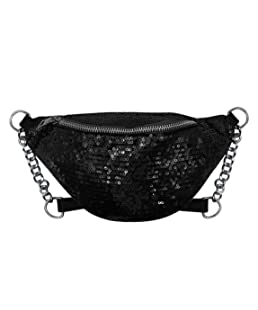 RARITY-US Sparkly Sequin Fanny Packs Glitter Waist Bag with Adjustable Strap for Women Girls Unisex