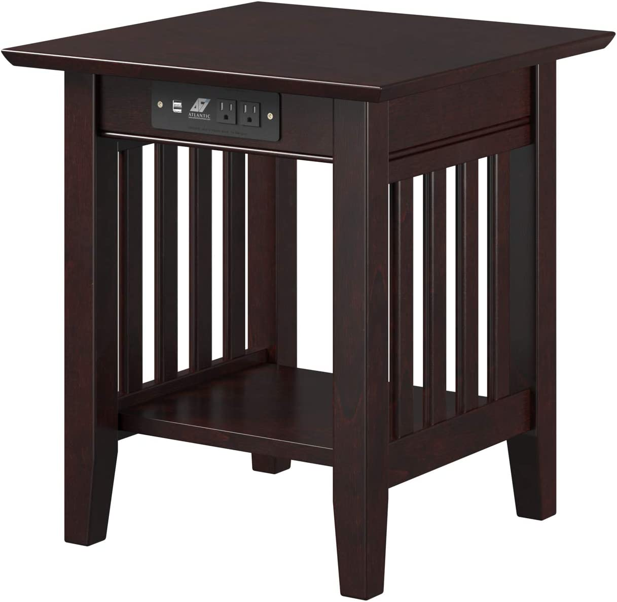 Atlantic Furniture Mission End Table, Espresso
