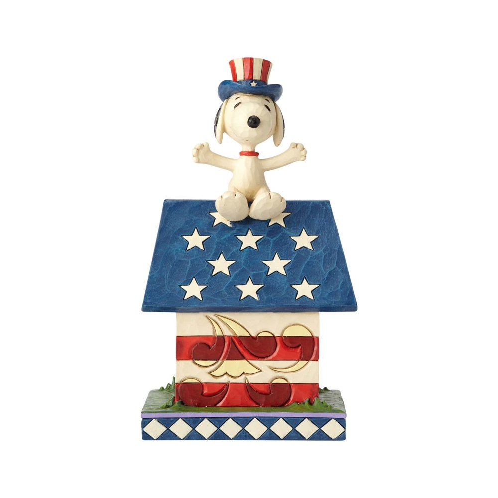 enesco PEANUTS DESIGNS BY JIM SHORE フィギュア スヌーピー Patriotic Doghouse #4059438 4059438 B0721QJM61