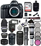Canon EOS 5D Mark IV Digital SLR Camera Bundle with Canon EF 24-105mm f/3.5-5.6 IS STM Lens + Canon EF 75-300mm f/4-5.6 III Lens + Canon EF 50mm f/1.8 STM Lens + Accessory Kit (22 items) For Sale