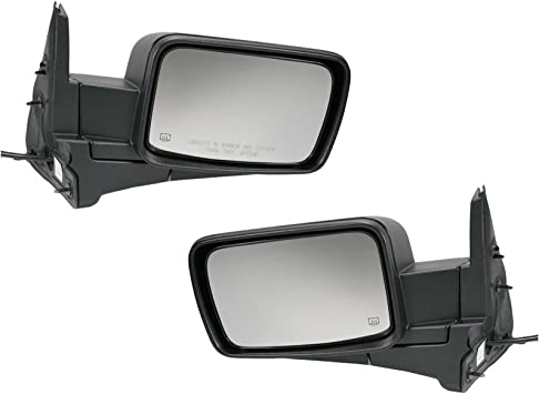 Mirror Glass For 06-10 Jeep Commander Passenger Side Replacement Heated