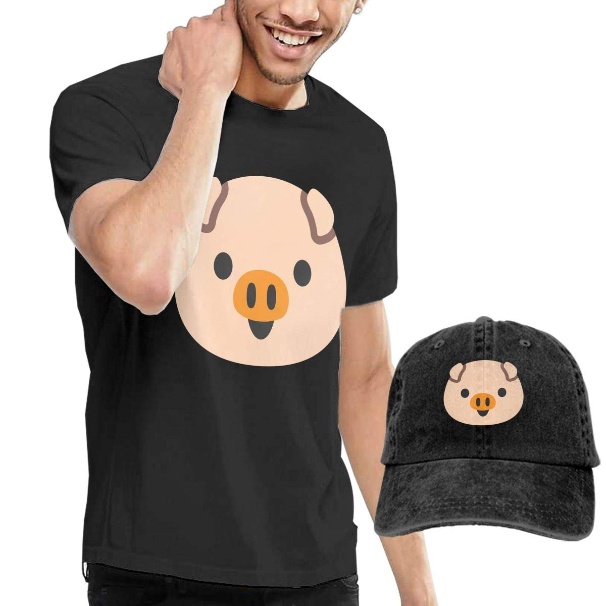 Pig Fashion Mens T-Shirt and Hats Youth /& Adult T-Shirts