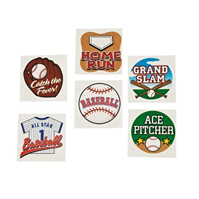 BASEBALL TATTOOS (6DZ) - Apparel Accessories - 72 Pieces: Toys & Games