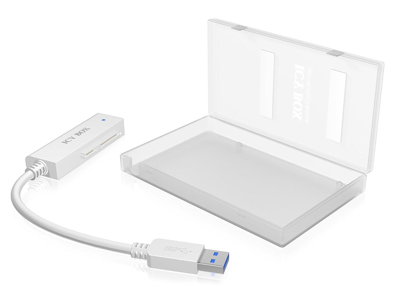 ICY BOX AC603A - Base de conexió n para disco duro (indicadores LED, USB, 2.5'), blanco 2.5) IB-AC603A-U3