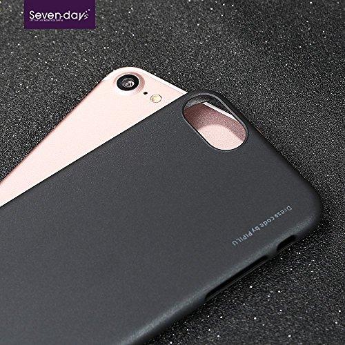 X-LEVEL Rubberized Thin Hard PC Tasche Hüllen Schutzhülle Case für iPhone 7 - schwarz