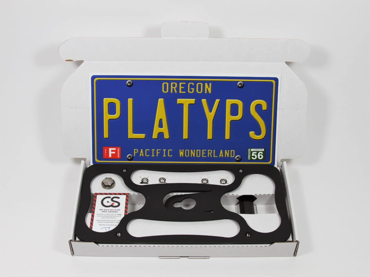 No Drilling Installs in Seconds 2013-2018 Made in USA Made of Stainless Steel /& Aluminum CravenSpeed Platypus License Plate Mount for Toyota RAV4