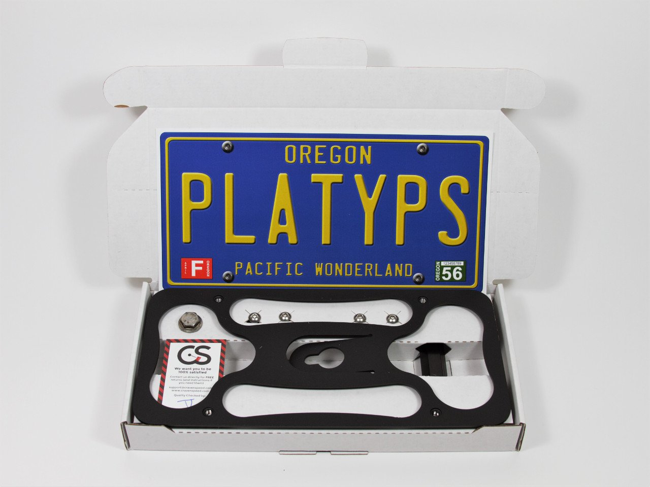 No Drilling CravenSpeed The Platypus License Plate Mount for Scion FR-S 2012-2016 Made of Stainless Steel /& Aluminum Installs in Seconds Made in USA