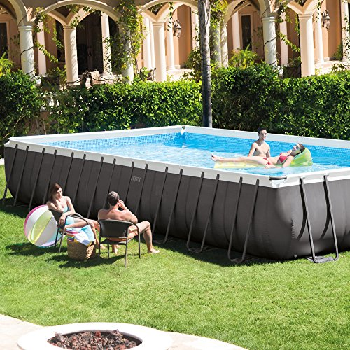 Intex 32 39 X 16 39 X 52 Ultra Frame Rectangular Swimming Pool Set 28371eg Buy Online In Uae