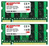 Komputerbay 8GB 2x 4GB DDR2 667MHz PC2-5300 PC2-5400 SODIMM CL5 200-Pin 1.8v Unbuffered NON-ECC DDR2-667 Memory Modules