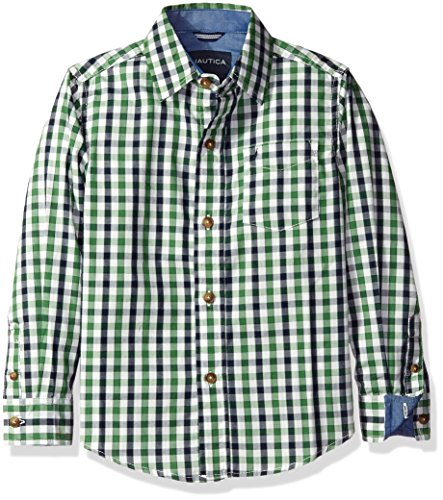 Nautica Sleeve Multi Plaid Chambray