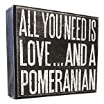 JennyGems All You Need is Love and a Pomeranian - Real Wood Stand Up Box Sign - Pomeranian Gift Series, Pomeranian Moms and Owners, Shelf Knick Knacks 4