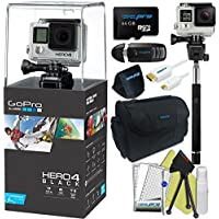 GoPro Hero 4 Black 4K Waterproof Action Camera Kit (9 Items)
