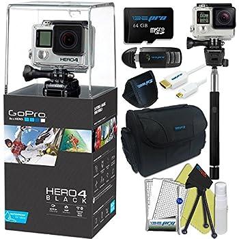 GoPro Hero 4 Black 4K Waterproof Action Camera Kit 9 Items