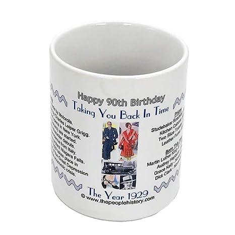 Amazon.com: 90th regalo de cumpleaños – taza de café ...