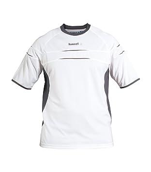 Luanvi - Camiseta m/c kenia sr, talla xxl, color blanco / antracita: Amazon.es: Deportes y aire libre