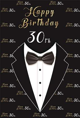 BuEnn 3x5 pies Hombres 30 ° cumpleaños Photo Booth Telón de ...