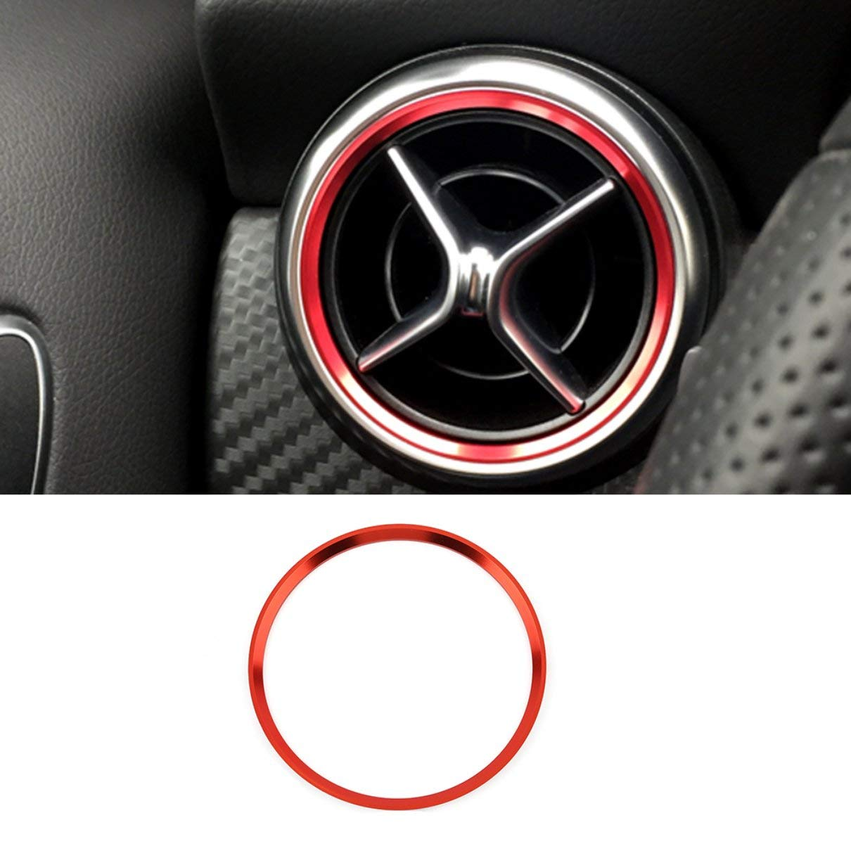 Car Styling Air Condition Air Vent Outlet Ring Cover Trim Decoration for Mercedes Benz AMG Accessories