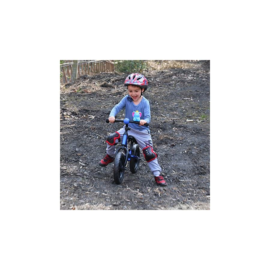 """JOYSTAR 12"""" Adjustable Balance Bike with Low Frame for Toddler 1.5 5 Years Old, Training Bike with Air Free Tire for Child, (Blue Pink Orange)"""
