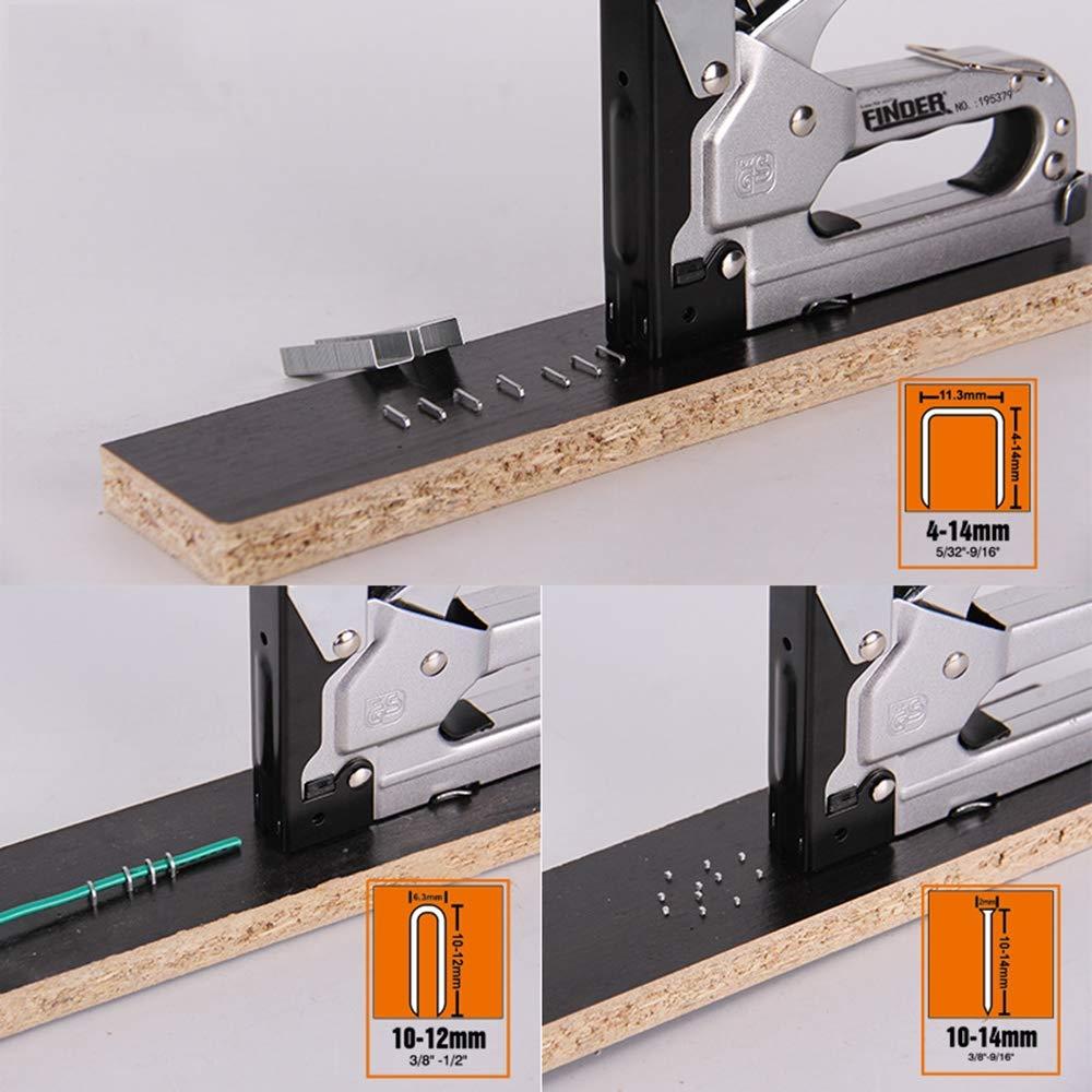 Meubles Panneaux daffichage 3 Way Tacker avec 600 agrafes pour la Fixation de mat/ériel d/écoration Portes et fen/êtres JAYLONG Pistolet /à Agrafe r/ésistant menuiserie industriels