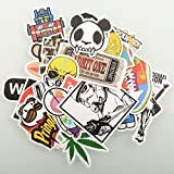 Fashion Cool Stickers Random Music Film Vinyl Skateboard Guitar Travel Case ...