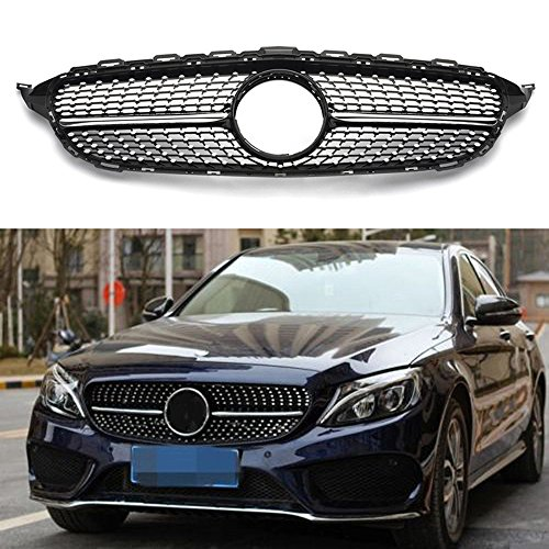 MotorFansClub Diamond grill grille front mesh grill for Mercedes Benz W205 New C-Class c250 300 400